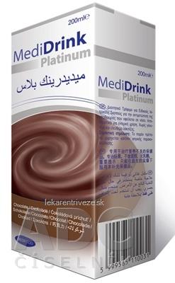 MediDrink Platinum príchuť čokoládová 30x200 ml