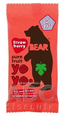 BEAR Jahodové yoyo (Strawberry pure fruit) ovocné rolky 1x20 g