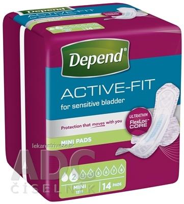 DEPEND ACTIVE-FIT Mini inkontinenčné vložky pre ženy 1x14 ks