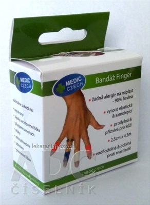 MEDIC Bandáž Finger Telová 2,5cm x 4,5m, náplasť elastická (rýchloobväz), 1x1 ks