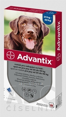 Advantix Spot-on pre psy nad 25 kg (1 pipeta) 1x4 ml