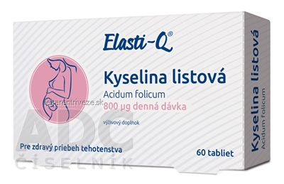 Elasti-Q KYSELINA LISTOVÁ 800 μg tbl 1x60 ks