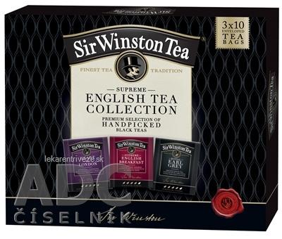 Sir Winston Tea KOLEKCIA čierne čaje, vrecúška 3x10 ks, (S.Engl.Breakfast + Heart of London + R.Earl grey) 1x1set