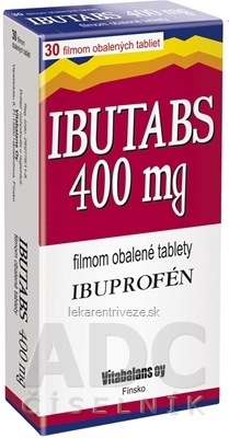 IBUTABS 400 mg tbl flm (blis.PVC/Al) 1x30 ks