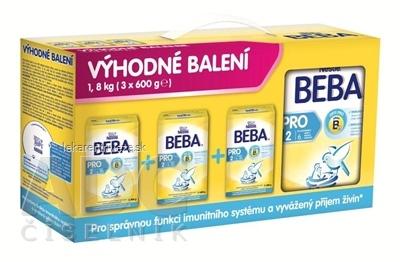 Nestlé BEBA PRO / OPTIPRO 2 - Trojbalenie následná výživa dojčiat (od ukonč. 6. mesiaca) 3x600 g (1,8 kg), 1x1 set