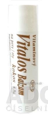 VITALOS Balzam na pery kokos SPF 5 vitamínový 1x1 ks