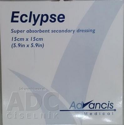 Eclypse krytie na rany superabsorpčné 15x15 cm, 1x20 ks