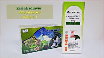Mucoplant Sirup proti kašľu s brečtanom 1x100 ml + FYTO TATRANSKÁ PRIEDUŠKOVÁ ZMES BYLINNÝ ČAJ 20x1 g (20 g)
