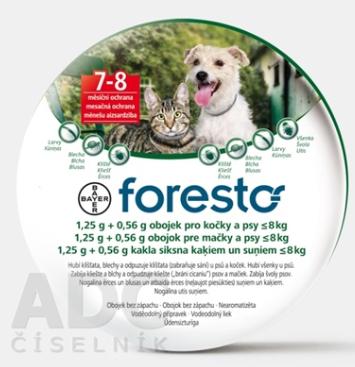 Foresto obojok pre mačky a psy do 8 kg 1x1 ks335
