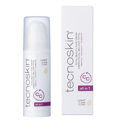 Tecnoskin - Pleťový CC krém, SPF 30 light Total Beauty face cream CC light