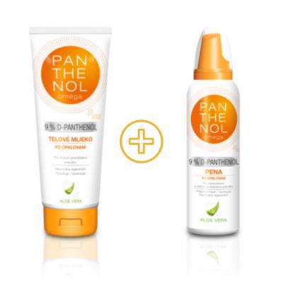 Panthenol omega  Pena ALOE VERA 9% + Panthenol omega telové mlieko s rakytníkom  Akcia