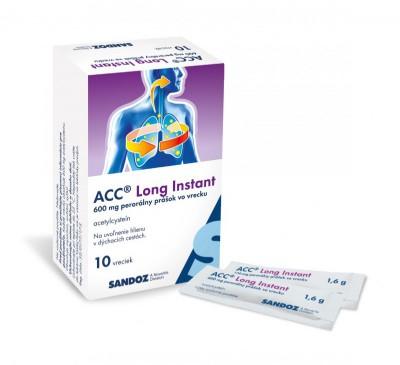 ACC Long Instant plv pos 600 mg (vre.Al/papier/fólia) 1x10 ks