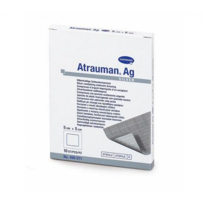 ATRAUMAN AG kompres impregnovaný, obsahuje striebro (10x20 cm) 1x3 ks