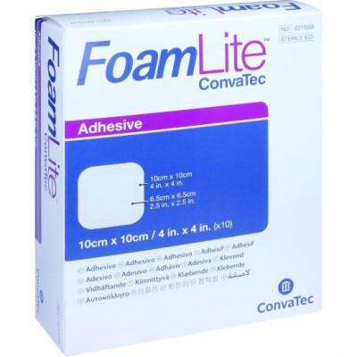 ConvaTec Foam Lite penové krytie na rany adhezívne, silikónové, 10 x 10 cm, 1x10 ks