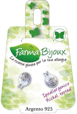 Farmabijoux hypoalergénne náušnice zelený motýľ