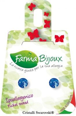 Farmabijoux hypoalergénne náušnice modry kryštáľ  Xirius 2 mm Sapphire