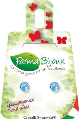 Farmabijoux hypoalergénne náušnice modrý kryštál Xirius 5,3mm aquamarina