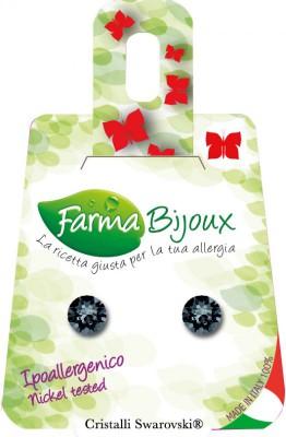 Farmabijoux hypoalergénne náušnice Xirius 6,2 mm graphite