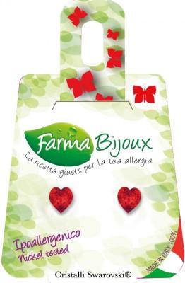 Farmabijoux hypoalergénne náušnice Heart 5mm light siam