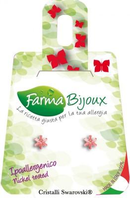 Farmabijoux hypoalergénne náušnice Snowflake 5mm peach rose