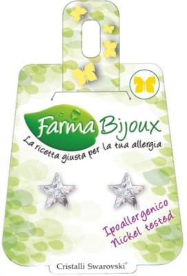 Farmabijoux hypoalergénne náušnice Star 10mm crystal