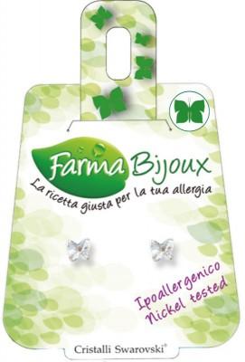 Farmabijoux hypoalergénne náušnice Butterfly 5mm crystal