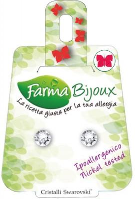 Farmabijoux hypoalergénne náušnice Xirius 6,2mm crystal