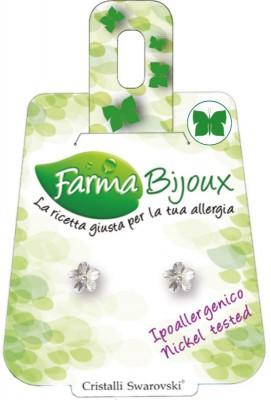 Farmabijoux hypoalergénne náušnice Flower 6mm Crystal