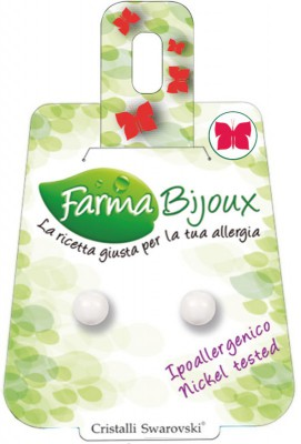 Farmabijoux hypoalergénne náušnice Pearl 6mm White