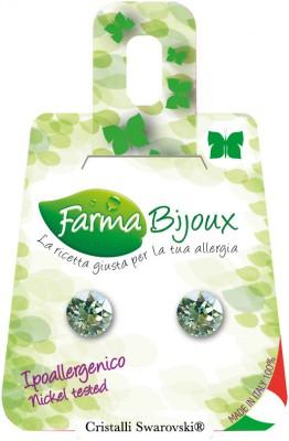 Farmabijoux hypoalergénne náušnice Xirius 7,15mm CHRYSOLITE