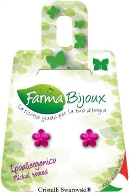 Farmabijoux hypoalergénne náušnice Fiore 6mm Fuchsia