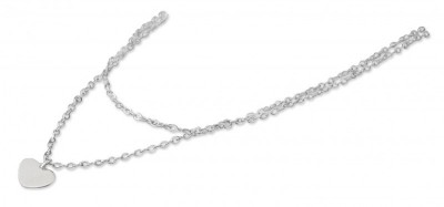 Farmabijoux hypoalergénny dvojitý náhrdelník so srdcom