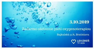 Príďte si oddýchnuť 3.10.2019 do Lekárne Tri veže na Bajkalskej 9/A v Bratislave